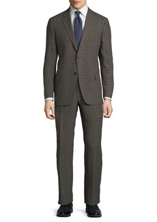 Hickey Freeman Men's Two-Piece Linen Glen Check Suit