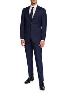 Hickey Freeman Men's Two-Piece Pinstripe Suit