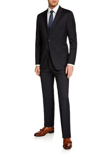 Hickey Freeman Men's Two-Piece Solid Wool Suit