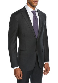 Hickey Freeman Men's Two-Piece Tasmanian Solid Suit