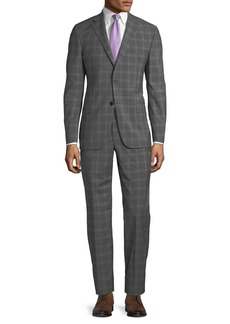 Hickey Freeman Men's Two-Piece Wool Windowpane Suit