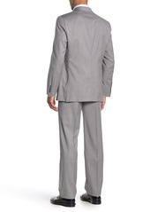 Hickey Freeman Milburn II Grey Solid Two Button Notch Lapel Wool Classic Fit Suit