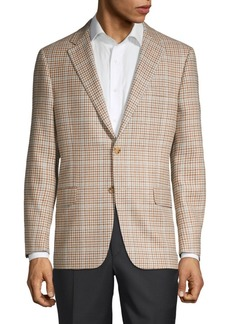 Hickey Freeman Milburn II Regular-Fit Wool, Silk & Linen Sportcoat