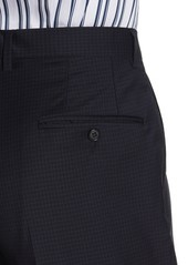 Hickey Freeman Milburn IM Series Blue Check Classic Fit Wool Suit