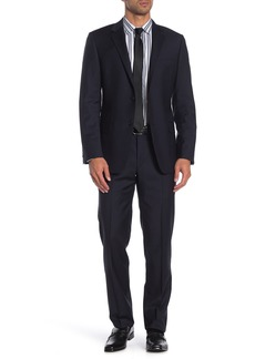 Hickey Freeman Milburn IM Series Blue Check Classic Fit Wool Suit