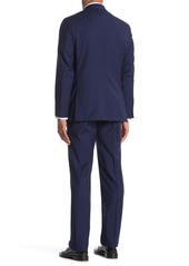 Hickey Freeman Milburn IM Series Blue Classic Fit Wool Suit