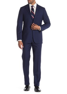 Hickey Freeman Milburn IM Series Blue Classic Fit Wool Suit