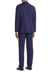 Hickey Freeman Milburn IM Series Blue Plaid Classic Fit Wool Suit