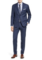 Hickey Freeman Modern H Fit Check Wool Suit