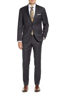 Hickey Freeman Modern Fit Plaid Wool 2-Piece Suit Set