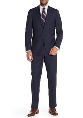 Hickey Freeman Navy Stripe Classic Fit Wool Suit