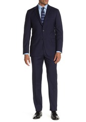 Hickey Freeman Navy Tonal Stripe Classic Fit Wool Suit