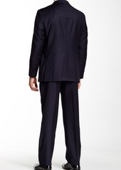 Hickey Freeman Notch Lapel Classic Fit Wool Suit