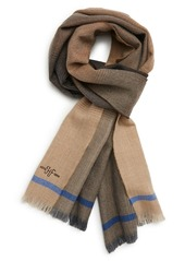 Hickey Freeman Ombre Colorblock Merino Wool Scarf