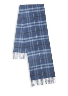Hickey Freeman Plaid Cashmere Scarf