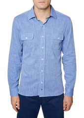 Hickey Freeman Regular Fit Cotton & Linen Shirt