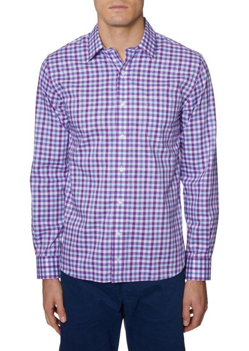 Hickey Freeman Regular-Fit Stretch Gingham Shirt
