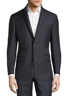 Hickey Freeman Single-Breasted Wool Sport Coat