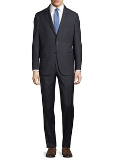 Hickey Freeman Striped Two-Piece Wool Suit