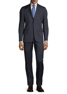 Hickey Freeman Two-Button Wool Suit