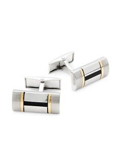 Hickey Freeman Two-Tone Rectangle Cufflinks