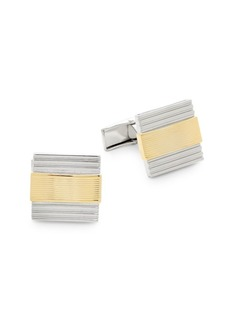 Hickey Freeman Two-Tone Square Cufflinks