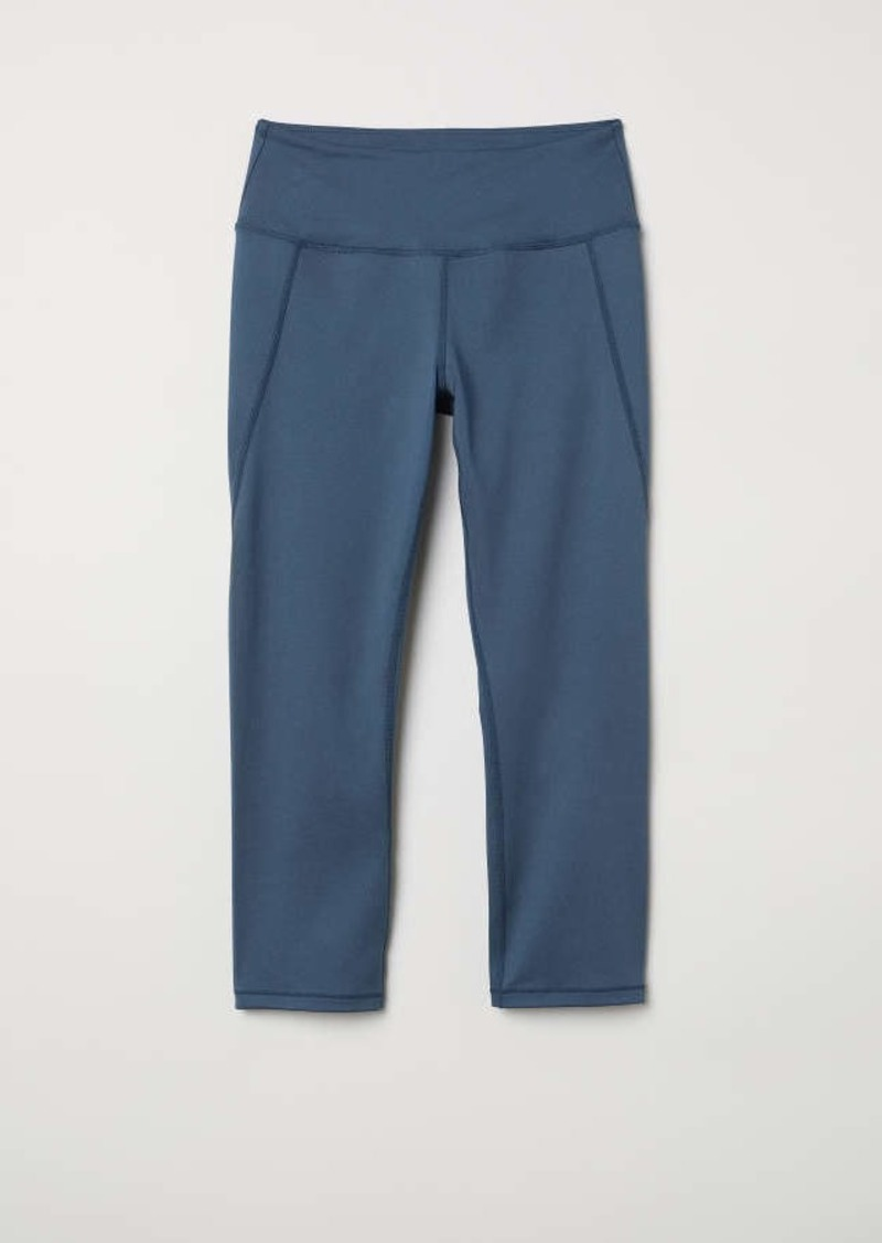 45681c101a439 H&M H & M - 3/4-length Sports Tights - Dark turquoise - Women ...