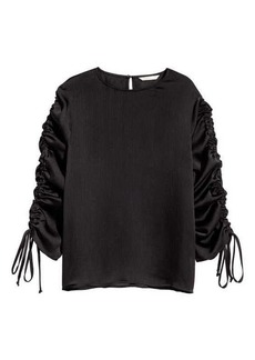 H&M Blouse with Drawstrings