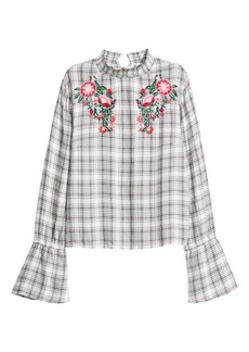 H&M Blouse with Stand-up Collar