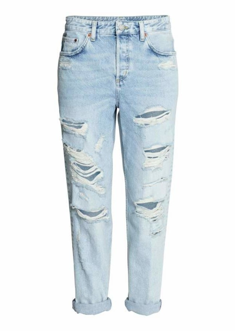 589204cf828 H&M H & M - Boyfriend Low Ripped Jeans - Light denim blue - Women