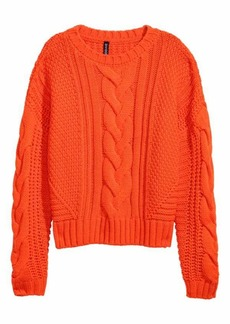 H&M H & M - Cable-knit Sweater - Orange - Women