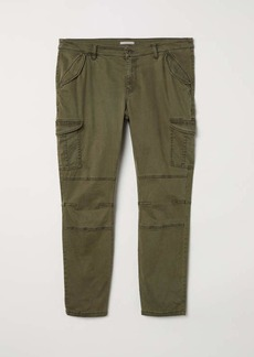 H&M H & M - H & M+ Cargo Pants - Dark khaki green - Women