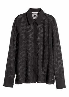 H&M H & M - Chiffon Blouse - Black - Women