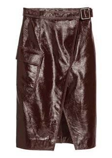 H&M Coated Leather Skirt