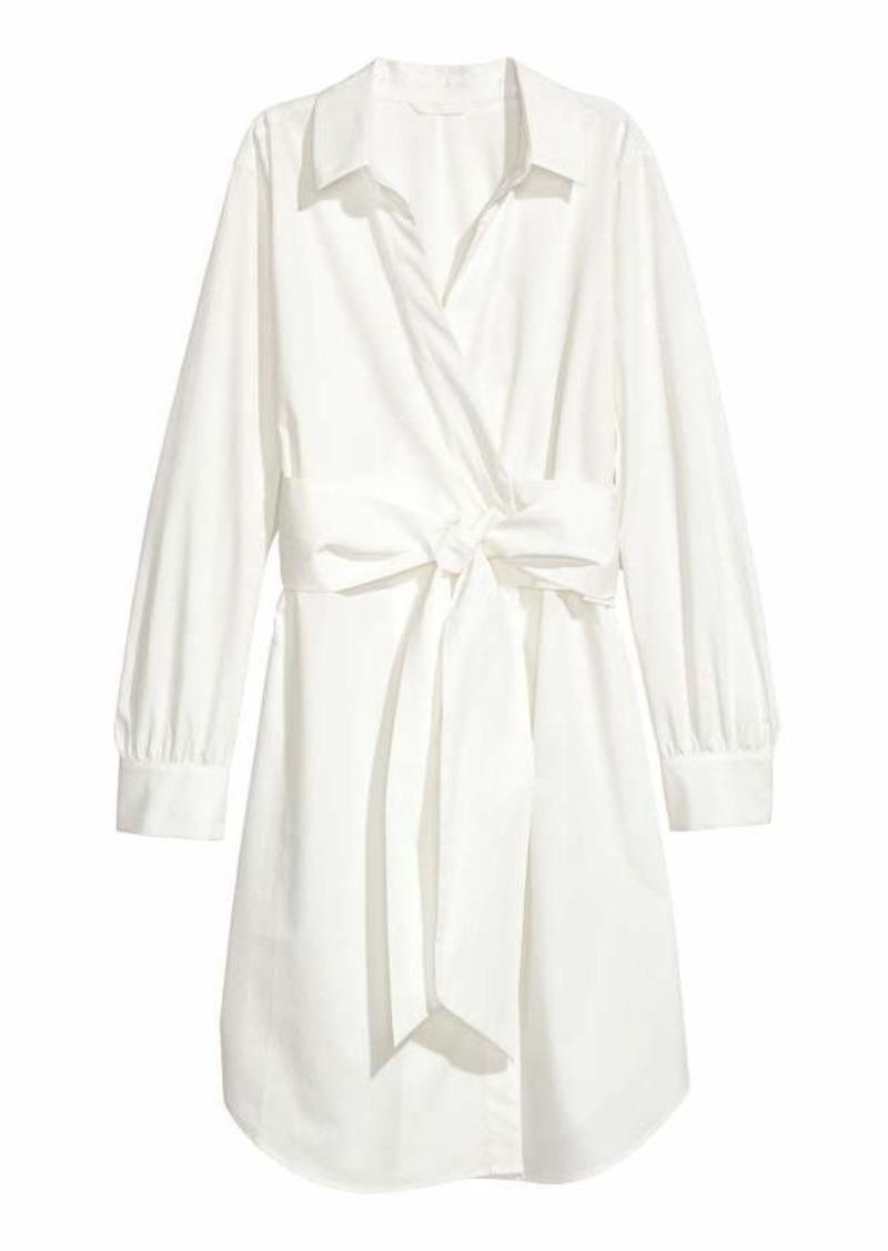H&M Cotton Wrap Dress