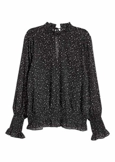 H&M Crinkled Chiffon Blouse