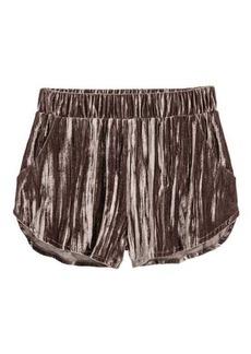 H&M Crushed-velvet Shorts