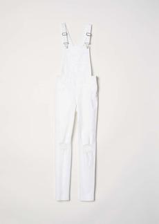 H&M H & M - Denim Bib Overalls - White - Women