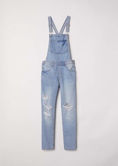 H&M H & M - Denim Bib Overalls - Light denim blue - Women
