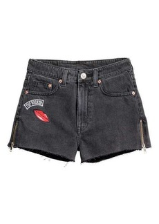H&M Denim Shorts with Zips