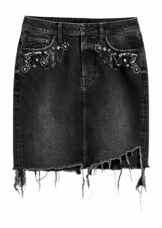 H&M Denim Skirt with Rhinestones