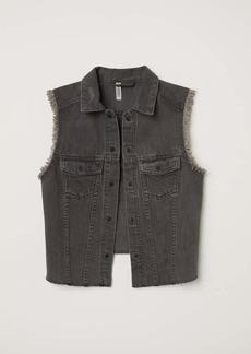 H&M Embroidered Denim Vest