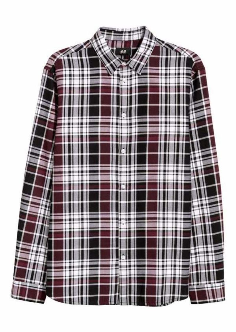 d368e4aeb90f H&M H & M - Flannel Shirt Regular fit - Burgundy/plaid - Men ...