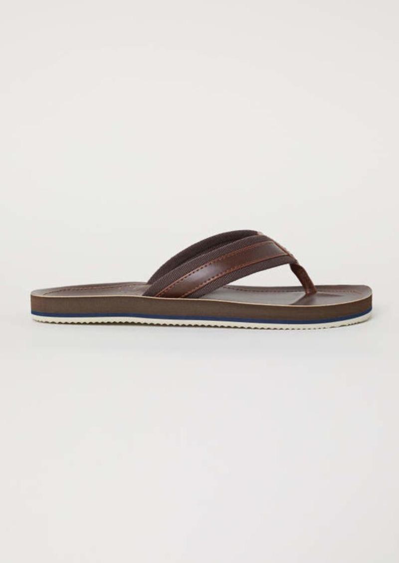 a595c81d777 H M H   M - Flip-flops - Dark brown - Men