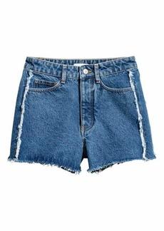 H&M Frayed-hem Denim Shorts
