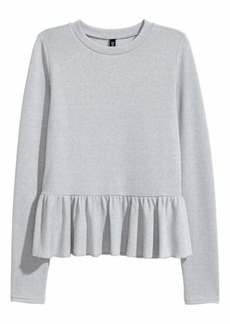 H&M Glittery Peplum Sweater