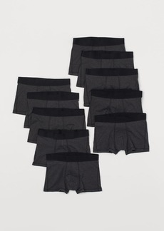 H&M H & M - 10-pack Short Boxer Shorts - Black