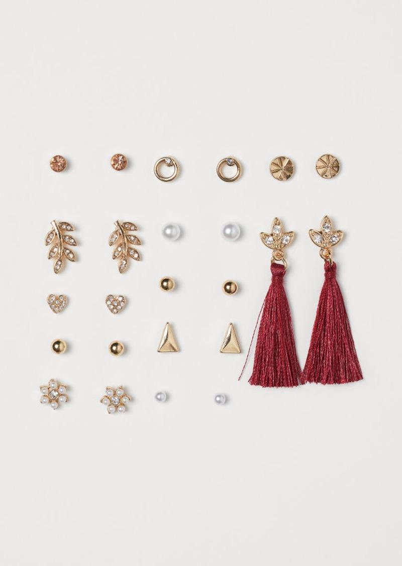 H&M H & M - 12 Pairs Earrings - Red