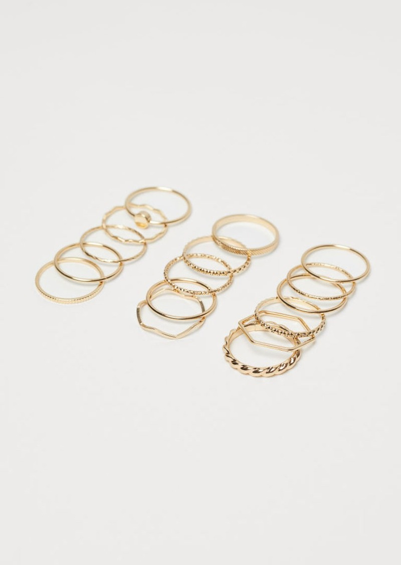H&M H & M - 16-pack Rings - Gold