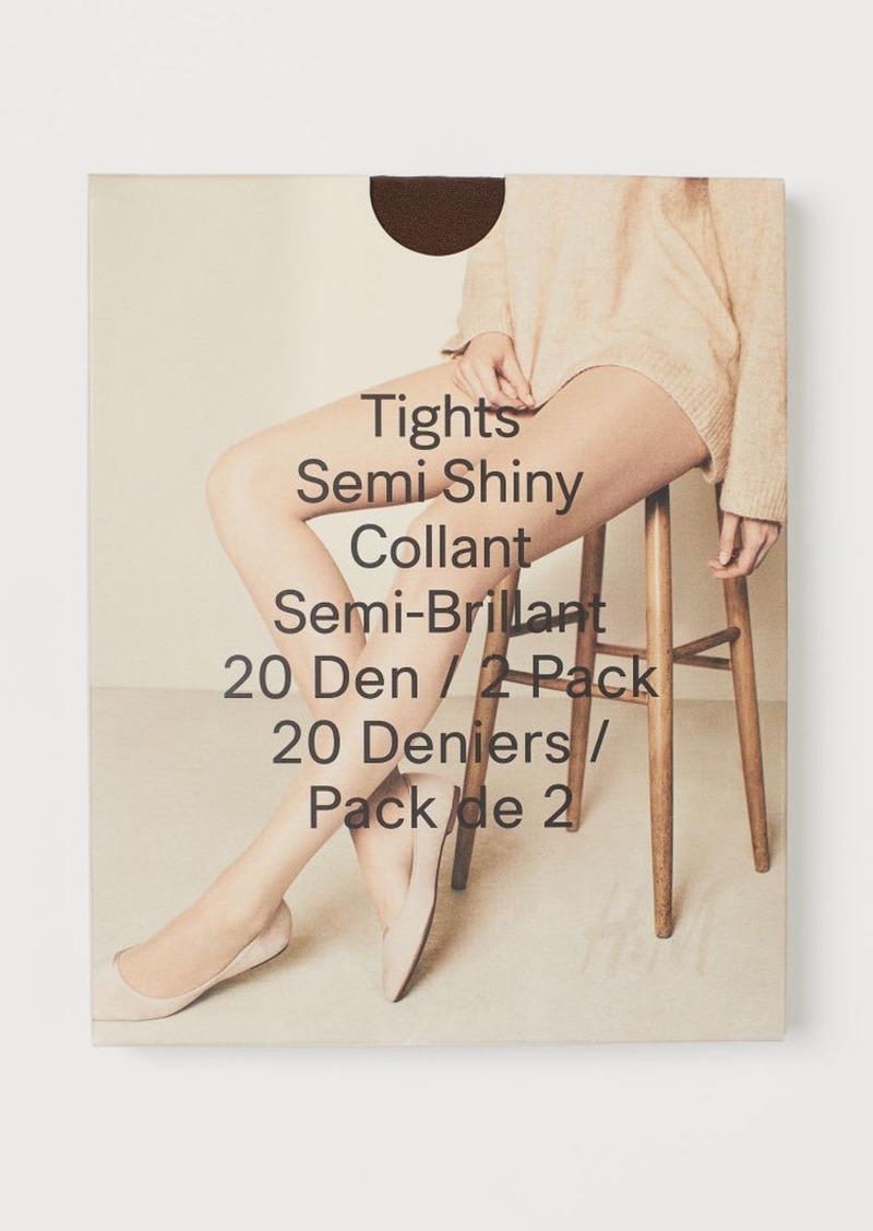 H&M H & M - 2-pack 20 Denier Tights - Brown